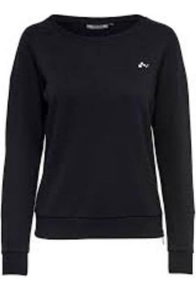 Only 15166064 Kadın Casual Sweatshirt Siyah