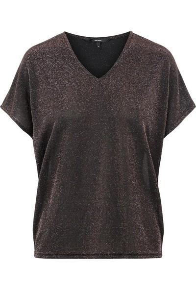 Vero Moda 10221623 Kadın T-Shirt Kahve