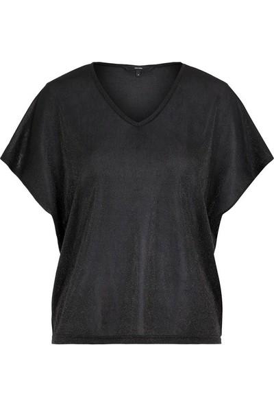 Vero Moda 10221623 Kadın T-Shirt Siyah