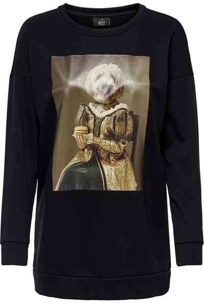 Only 15191529 Kadın Sweatshirt Siyah