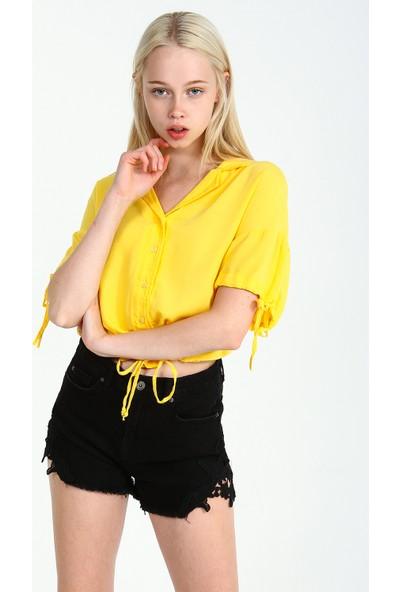 Collezione Kadın Gömlek Kısa Kol Violet
