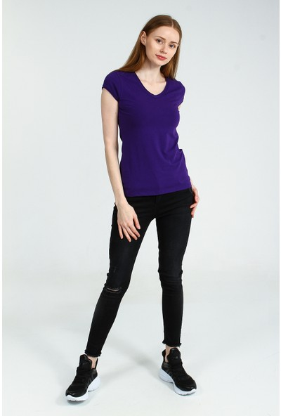 Collezione Kadın T-Shirt Kısa Kol Sandra
