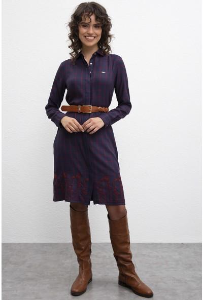 U.S. Polo Assn. Kadın Dokuma Elbise 50207468-Vr033