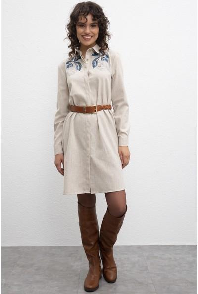 U.S. Polo Assn. Kadın Dokuma Elbise 50209461-Vr011