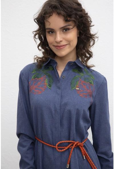 U.S. Polo Assn. Kadın Dokuma Elbise 50209461-Vr033