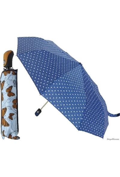 Rubenis Şemsiye Kadın 10 Tel Otomatik 3 Kırma Şemsiye El-04