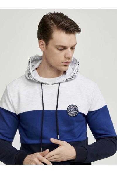 Mcl Kapüşonlu Üç Renk Sweatshirt
