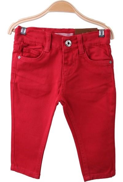 Eh Erkek Çocuk Keten Pantolon Kırmızı 9 Ay-6 Yaş