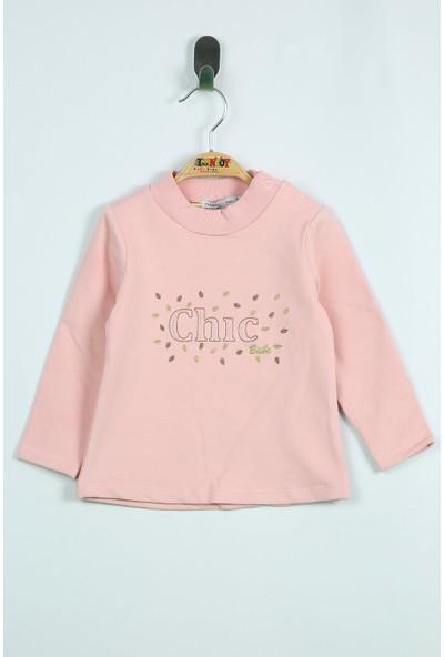 Toontoy Kız Bebek Sweatshirt Chic Nakışlı