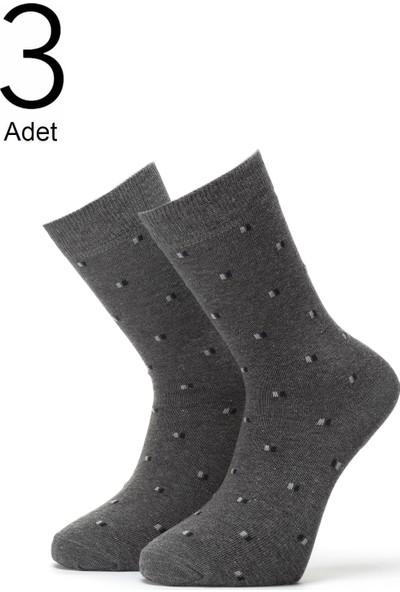 Orbis 3'lü Erkek Kare Desenli Çorap 4415-A3