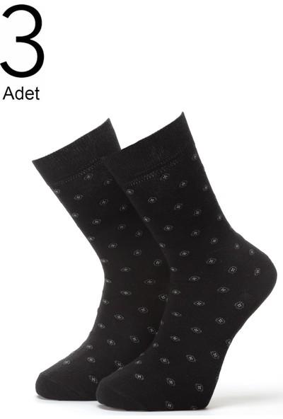 Orbis 3'lü Erkek Yuvarlak Desenli Çorap 4416-A3
