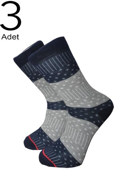 Orbis 3'lü Erkek Puanlı Çemberli Çorap 4459-A3