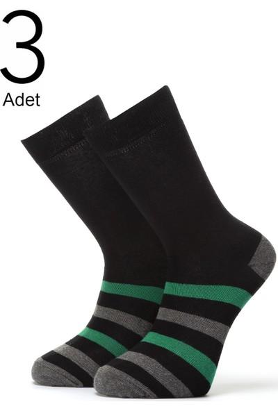 Orbis 3'lü Erkek Çember Desenli Çorap 4460-A3