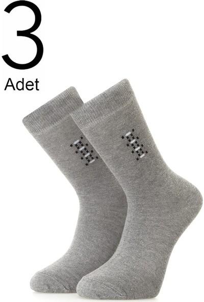 Orbis 3'lü Erkek Soket Desenli Çorap 4471-A3