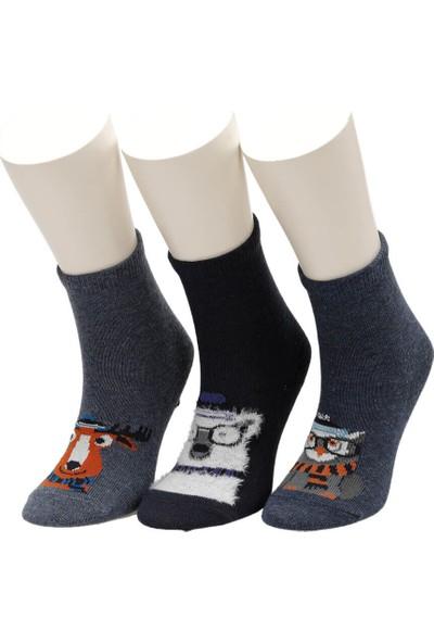 I Cool Wınterfell 3 Lu Skt-B Lacivert Erkek Çocuk Soket Çorap