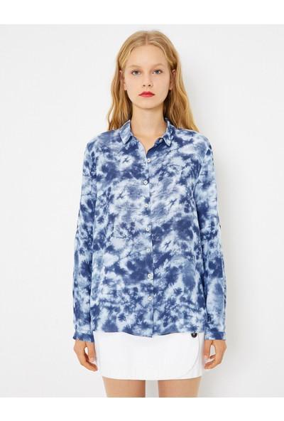Koton Kadın Bluz Lacivert 0KAF60076GW731