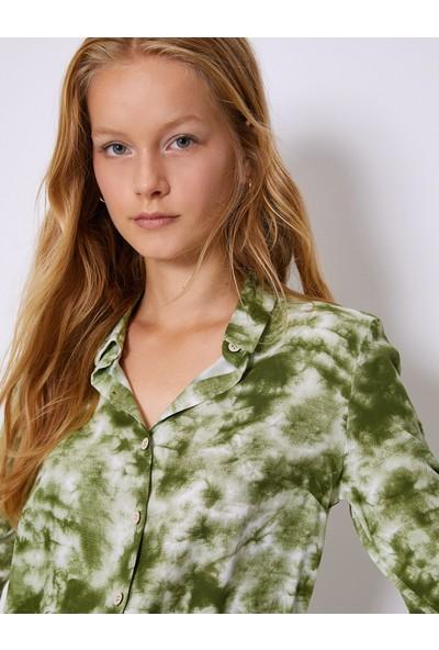 Koton Kadın Gömlek Haki 0KAF60076GW69F