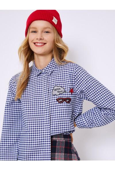 Koton Kadın Gömlek Lacivert 0KAF60052GW18P