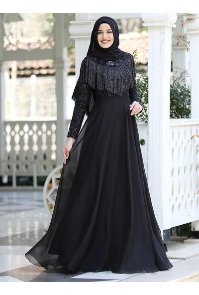 Piennar Hayal Abiye Elbise Siyah