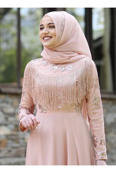 Piennar Hayal Abiye Elbise Somon