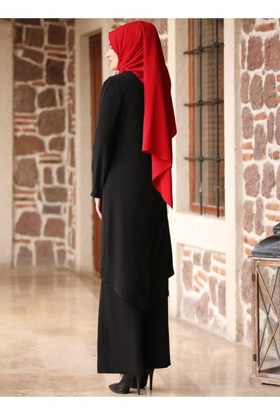 Amine Hüma Beliz Pantolon&Amp;Amp;Tunik İkili Takım Siyah