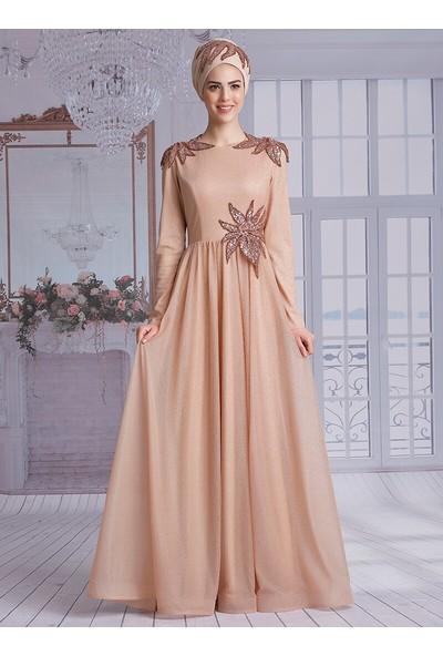 Nurkombin Manolya Abiye Elbise Gold