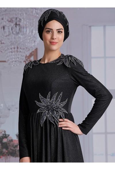 Nurkombin Manolya Abiye Elbise Siyah