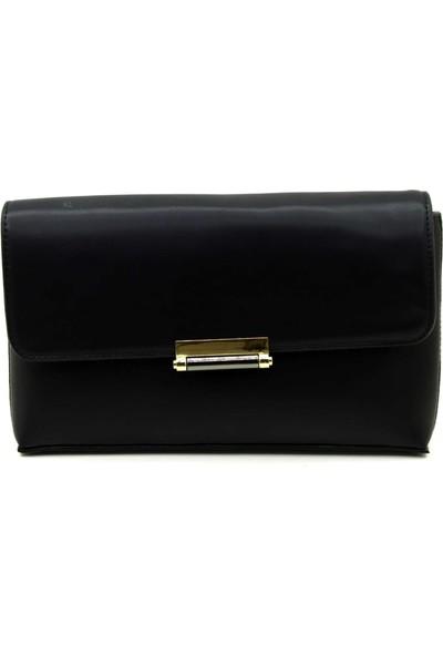 Sanmorris Siyah Soft Kadın Clutch Çanta
