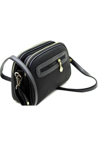 Silver & Polo Siyah Lacost Kadın Çapraz Ask Çanta