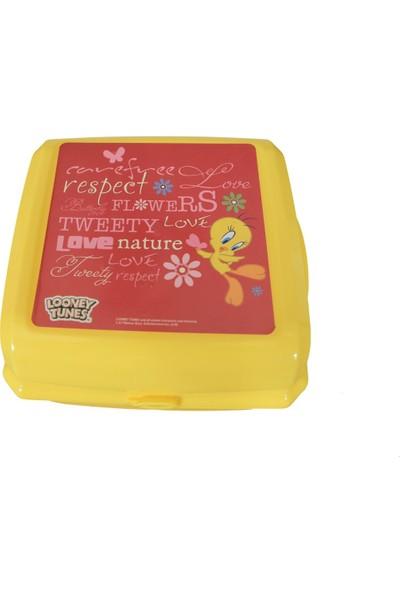 Tweety Plastik Beslenme Kabı Kutusu