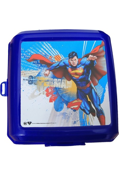 Süperman Lisanslı Plastik Beslenme Kabı Kutusu