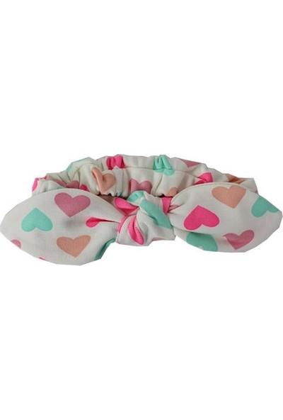 Alya Kız Bebek Pamuklu Saç Bandı Renkli Kalpli