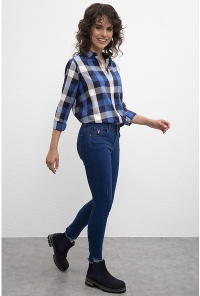 U.S. Polo Assn. Kadın Denim Pantolon 50214221-Dn0029
