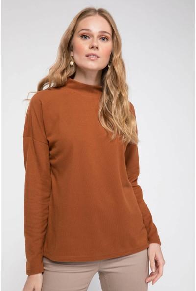 Defacto Kadın Uzun Kollu Sweatshirt