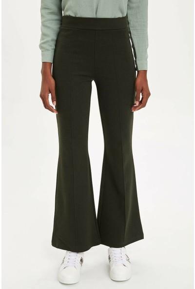 Defacto Kadın Flare Fit Dokuma Pantolon
