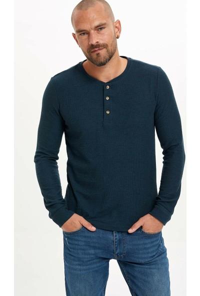 Defacto Erkek Slim Fit Basic Sweatshirt