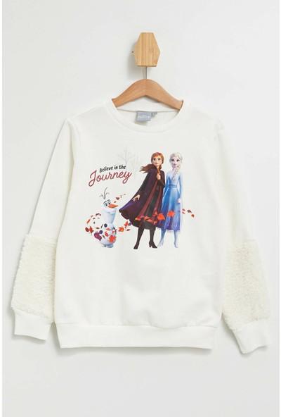DeFacto Kız Çocuk Frozen Lisanslı Sweatshirt M1322A619AU