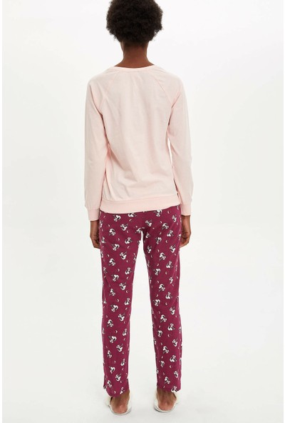 Defacto Kadın Snoopy Lisanslı Pijama Takımı