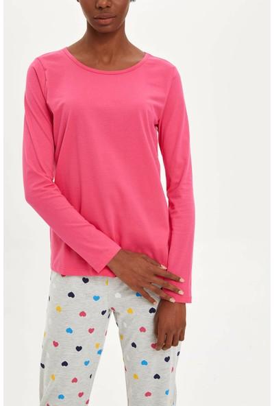 Defacto Kadın Baskılı Pijama Takımı