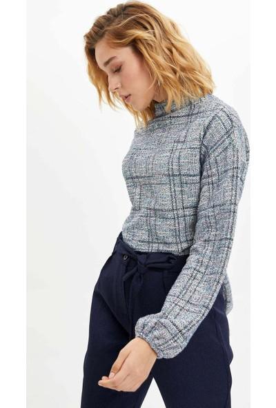 Defacto Kadın Düşük Omuzlu Uzun Kollu Sweatshirt