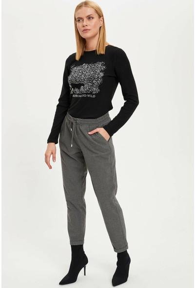 Defacto Kadın Relax Fit Elastik Bel Pantolon