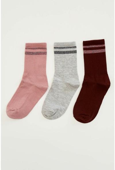 Defacto Kadın 3'lü Uzun Çorap
