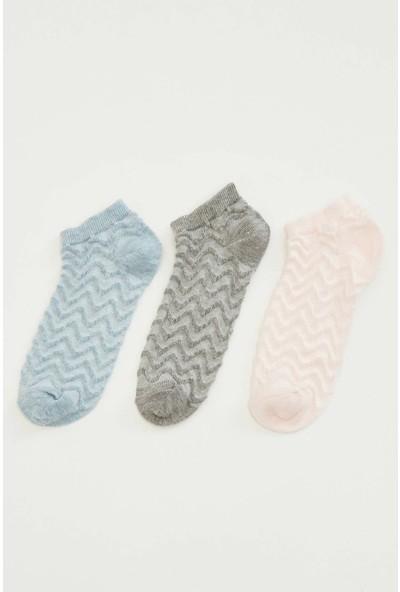 Defacto Kadın 3'lü Kısa Çorap