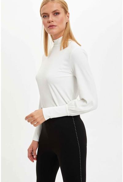 Defacto Kadın Slim Fit Uzun Kollu Sweatshirt
