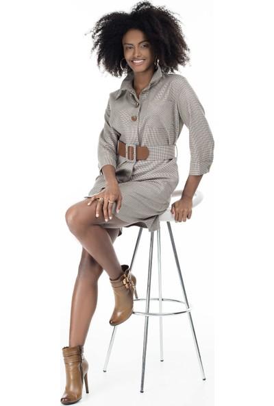 Via Dante Kazayağı Desenli Elbise Kadın Elbise 04661355Vd