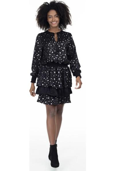 Via Dante Çiçekli Mini Elbise Kadın Elbise 19204000001Vd