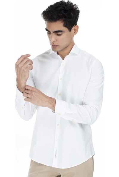 Lufian Glencoe Slim Fit Gömlek Erkek Gömlek 112010093