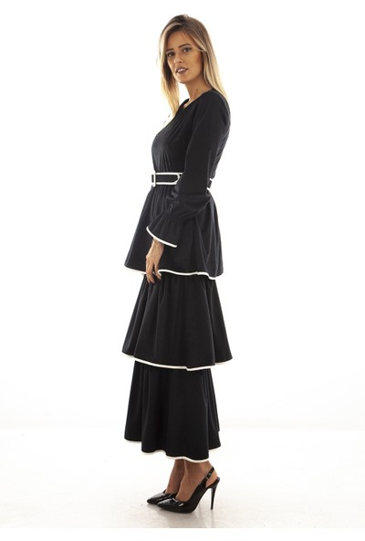 Arda New Line Siyah Elbise 0807593.01