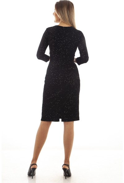 Arda New Line Siyah Elbise 130160.01