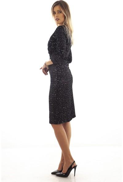 Arda New Line Siyah-Gümüs Elbise 130160.257